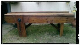 antique wooden bench FULLY RESTORED
