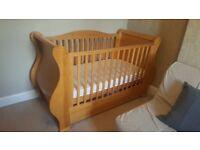 Walnut pine Nursery furniture set