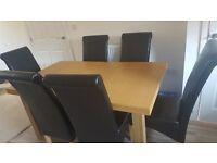 Dinning Table Set , Bosch Fridge & Leather Computer Desk Chair
