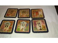 Vintage Cloverleaf Traditional Coasters