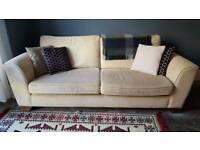 Laura Ashley 3 seater sofa in cream / beige
