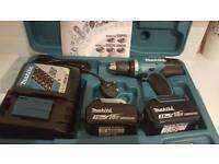 Makita set (drill,2 x battery and charger)