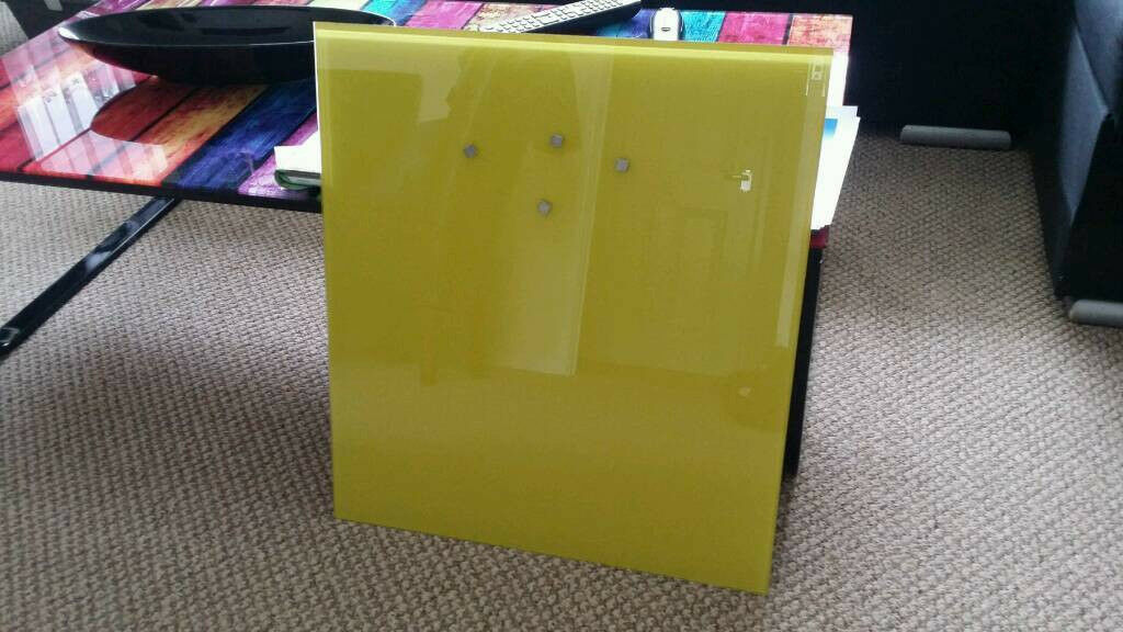 Glass magnetic / notice board