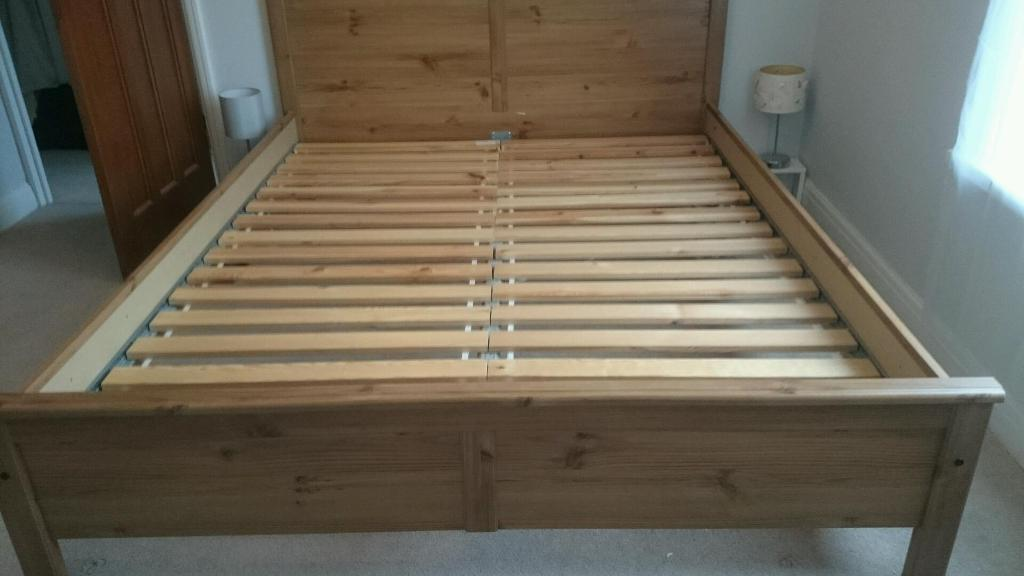 ikea hemnes king size bed frame and sultan slats in