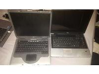 2x Laptops Working Spares & Repairs HP Fujitsu Siemens