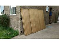 3 x 6ft Fence Panels - Tongue & Groove construction