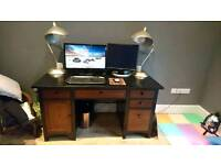 Solid wood painted desk
