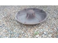 Vintage Mexican Hat Cast Iron Pig Feeder