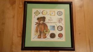 3 Custom-Framed Teddy Bear Prints