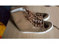 Brown Adidas High tops for sale