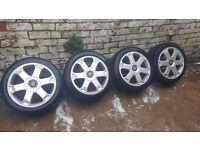 alloy wheels audi 225/45/17 good tires