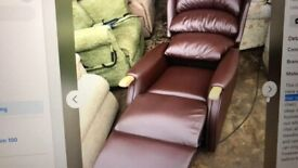 Recliner chair with remote - hardly used