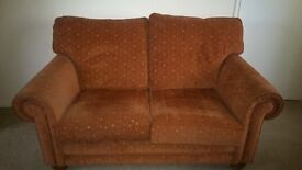 Two seater sofa and two arm chairs