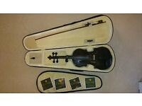 Cecilio Cello 3/4 Black with Complete Spare Strings