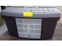 Large 'Stanley' Hard Plastic Sturdy Tool Box