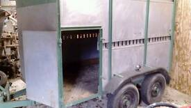 Twin axel sheep aluminium trailer