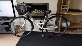 "Elyse Apollo ladies bike 18"" for sale with basket, lights and 2 bike locks"