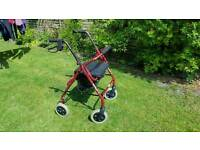Mobility 4 wheel walker, disabled aid