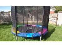 8 foot Plum trampoline with enclosure for sale (8 Months old)