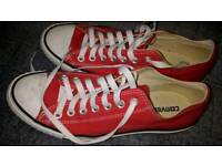 Converse All-star bright red size 8.5 low top