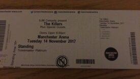 ***2 STANDING TICKETS FOR THE KILLERS AT MANCHESTER ARENA - 14 NOVEMBER***