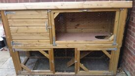 Very Large, Clean, Good Quality, 2 Tier Rabbit Hutch