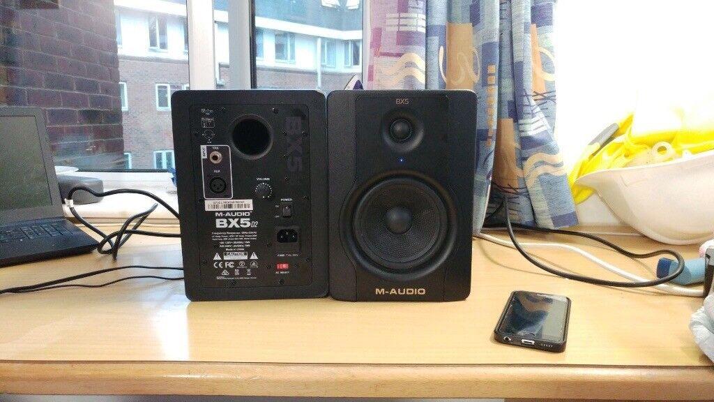 Magnificent M Audio Bx5 D2 Bi Amplified Studio Monitor Speaker Pair In Wiring Digital Resources Bemuashebarightsorg