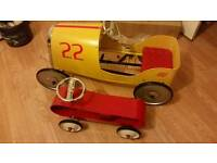 Vintage childrens toy racing cars