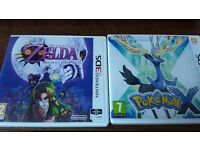 New Nintendo 3DS Black with Pokémon X and Zelda: Majora's Mask (Price negotiable)