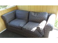 Free Sofa - Beautiful navy blue with gold pattern - Super Comfy