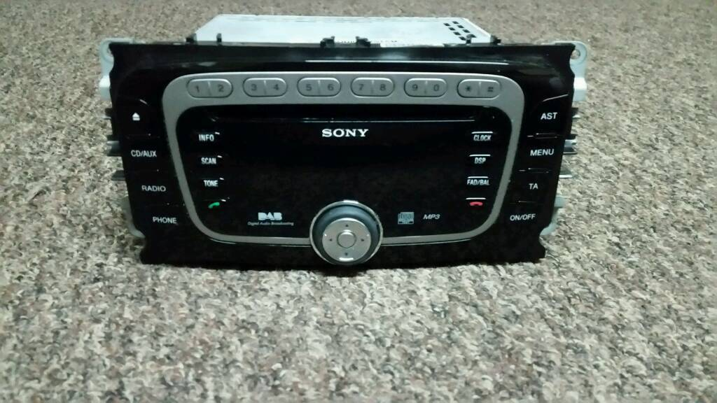 FORD FOCUS DAB RADIO CD345/ BLUETOOTH PHONE AND MUSIC /IPOD/ CD PLAYER/MP3