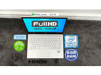 HP FHD IPS LAPTOP (INTEL CORE i5 QUAD CORE 8GB 256GB SSD)