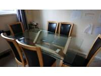 Dining room table, 6 chairs