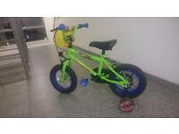 """Schwinn 12"""" Bike in Green and Blue"""