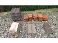 Roof tiles, assorted - free to collector