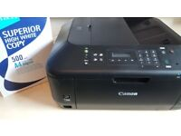 Printer Canon PIXMA MX535 with A4 sheets Black colour Copy, Fax, Scan and Print