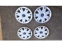 Ford fiesta wheel trims 15ich