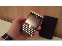 BlackBerry PORSCHE DESIGN P9981 24K gold plate,swap iPhone or Samsung