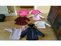 girls jumpers hooded coat, cardigan, dress age 3-4 years vgc pet smoke free