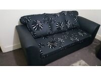 Brand New sofa Black 3+2 seat faux leather (free delivery with in 10mil)