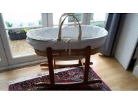 Moses Basket/Bassinet with Rocking Stand