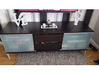 Black/brown tv unit/sideboard