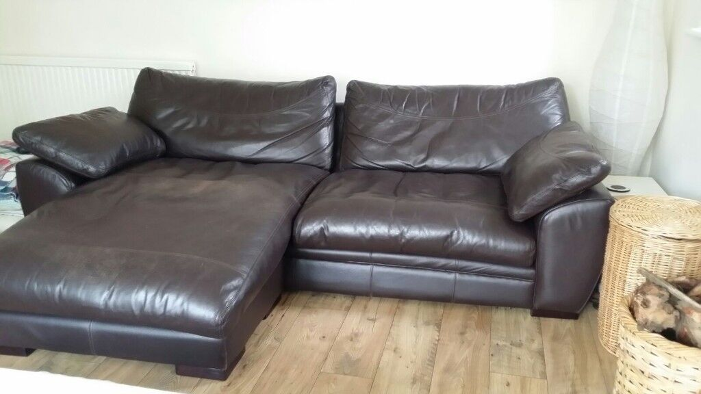 John Lewis Leather Corner Sofa Cost 2000 When New Quality Not Dfs