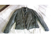 Green Leather Jacket, Size M - New & Unworn