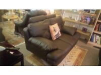 Brown leather 2 seater sofa, great condition, £85. SK15 3DN.