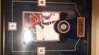 guy lefleur plaque with signed puck