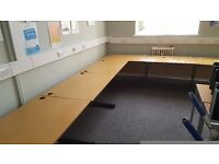 Lots of 160/180cm Straight Desks with FREE Pedestal