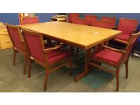 Large boardroom table with 6 chairs (extra chairs available)