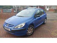 Peugeot style 307 1.4 petrol blue 5 door 11 months M.O.T