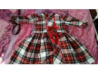 Girls Tartan Dress Age 5-6yrs